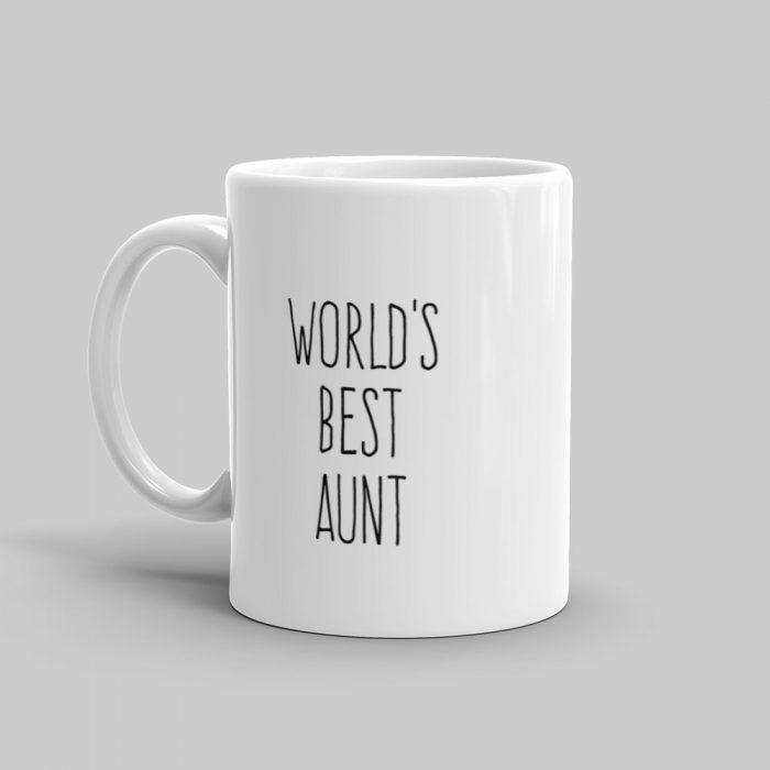Mutative Mugs - World's Best Aunt Mug - Left View