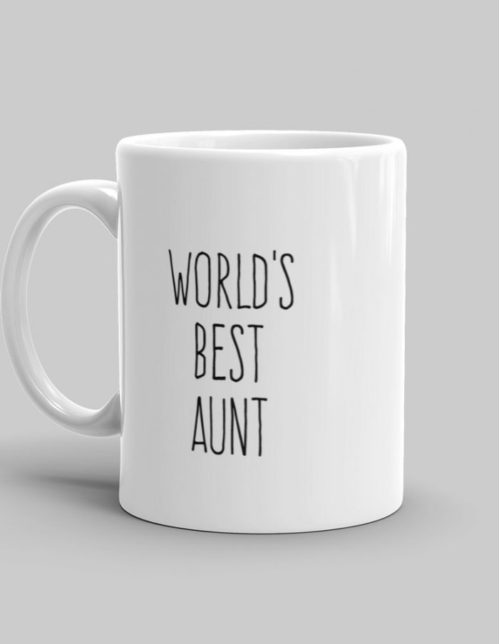 Mutative Mugs - World's Best Aunt Mug - Left View