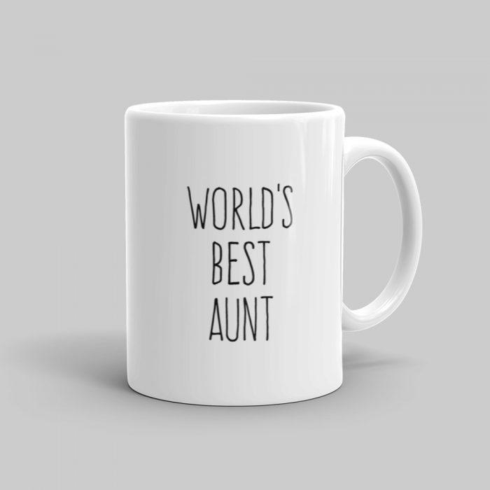 Mutative Mugs - World's Best Aunt Mug - Right View