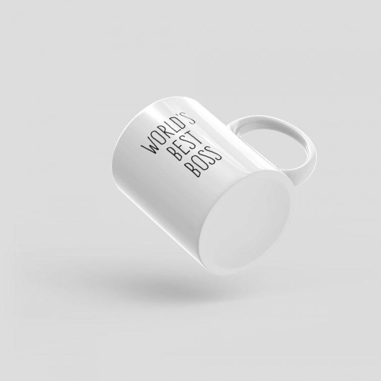 Mutative Mugs - World's Best Boss Mug - Bottom View