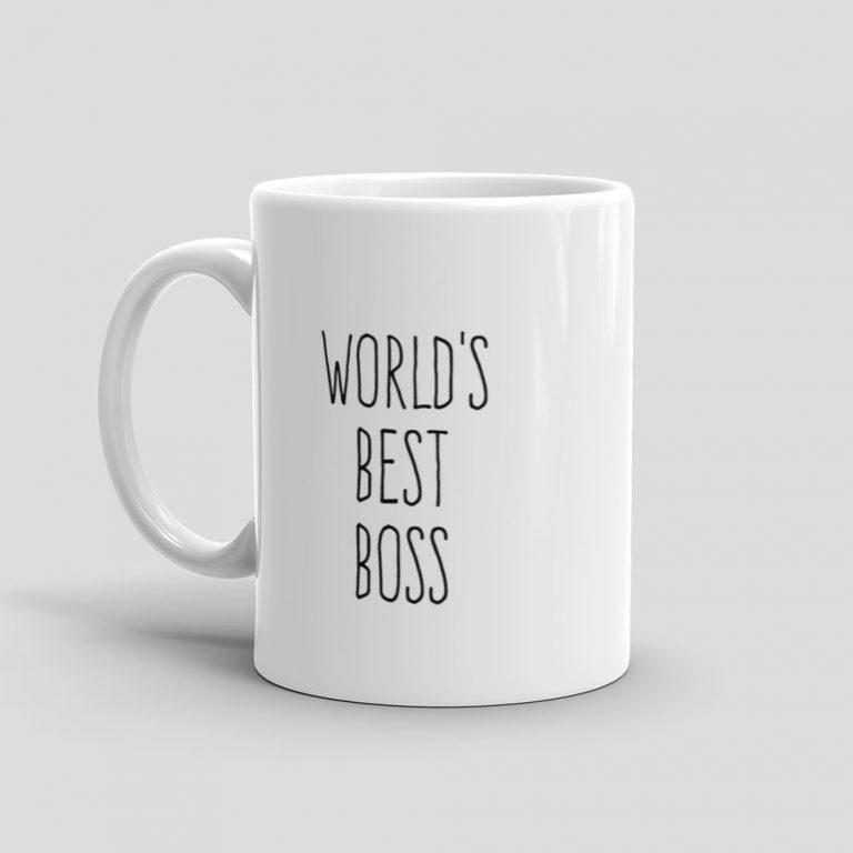 Mutative Mugs - World's Best Boss Mug - Left View