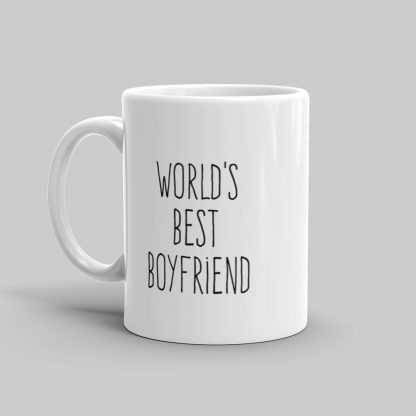 Mutative Mugs - World's Best Boyfriend Mug - Left View