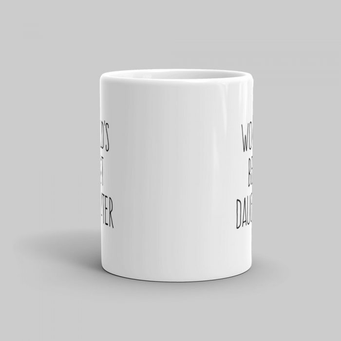 Mutative Mugs - World's Best Daughter Mug - Front View