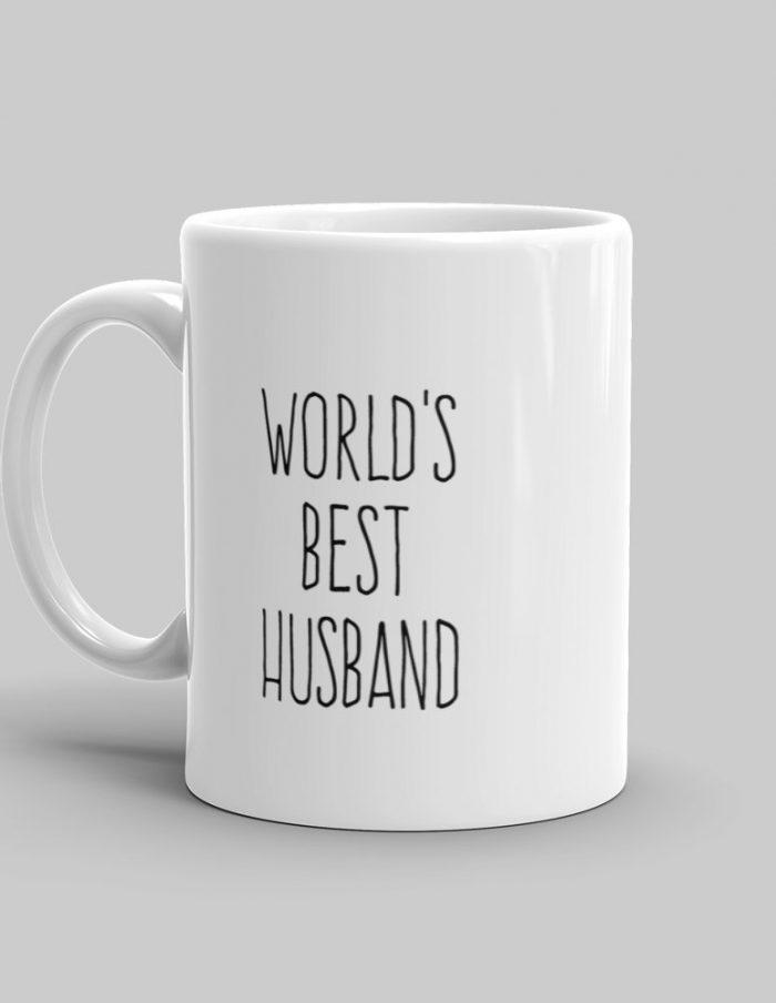 Mutative Mugs - World's Best Husband Mug - Left View