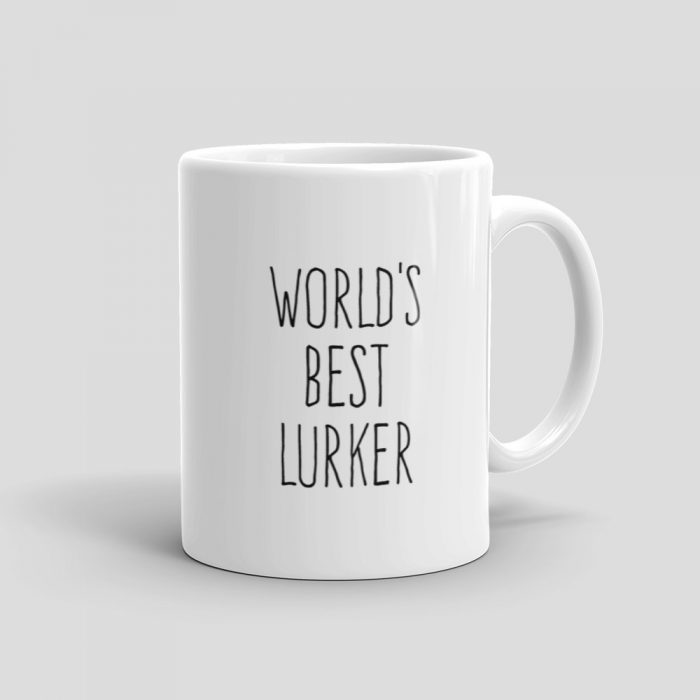 Mutative Mugs - World's Best Lurker Mug - Right View