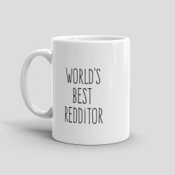 Mutative Mugs - World's Best Redditor Mug - Left View