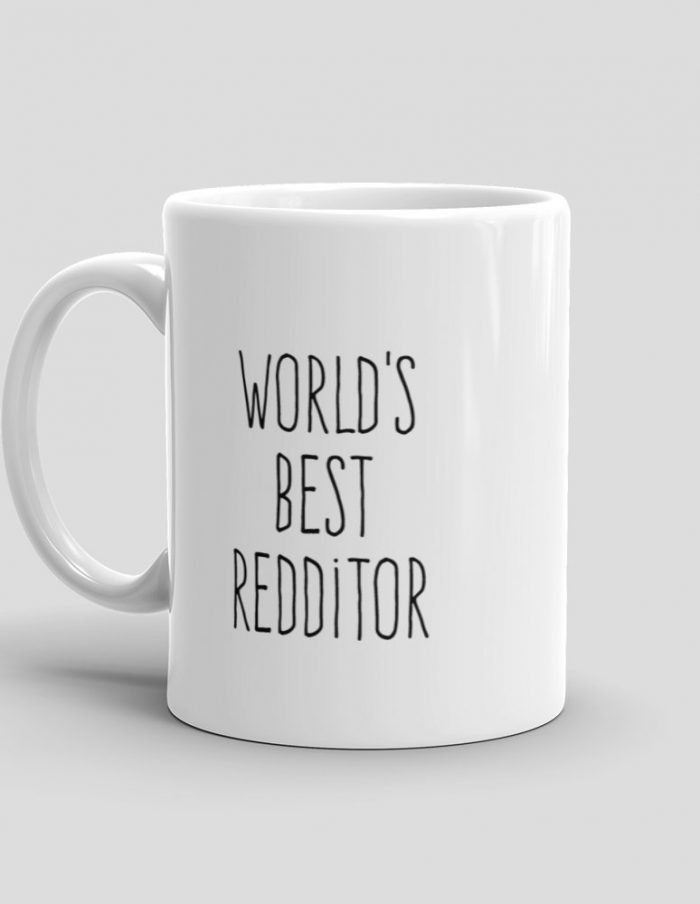 Mutative Mugs - World's Best Redditor Mug - Left View