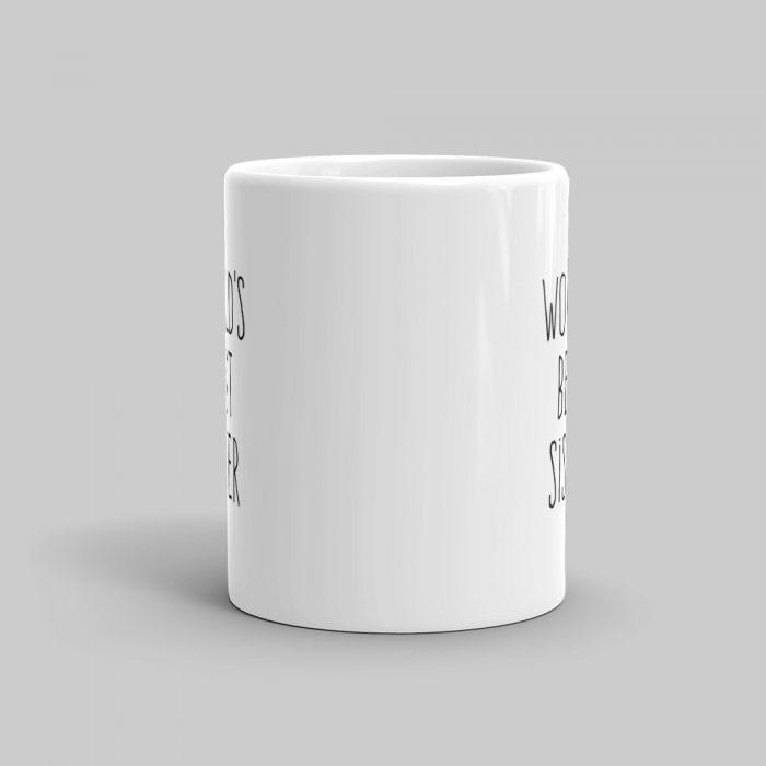 Mutative Mugs - World's Best Sister Mug - Front View