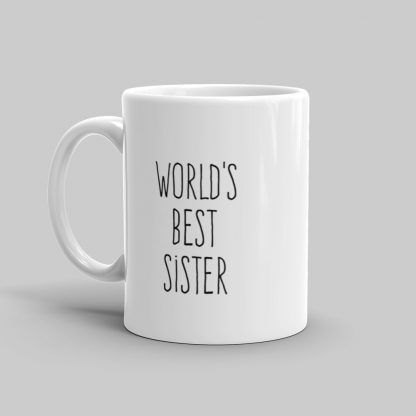 Mutative Mugs - World's Best Sister Mug - Left View