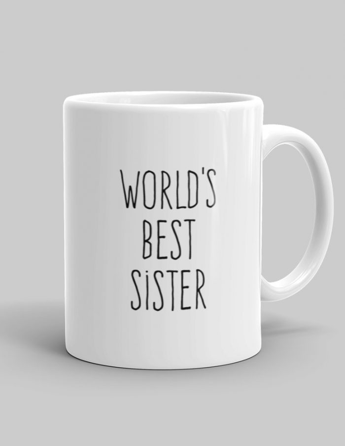 Mutative Mugs - World's Best Sister Mug - Right View