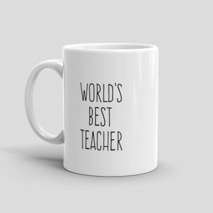 Mutative Mugs - World's Best Teacher Mug - Left View