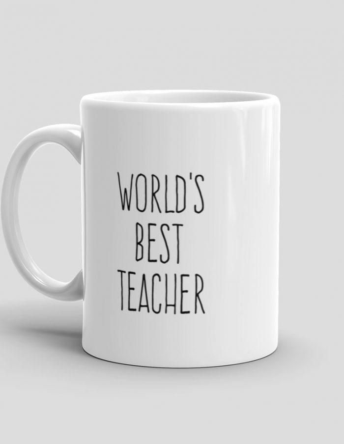 Mutative Mugs - World's Best Teacher Mug - Left View