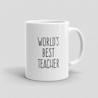 Mutative Mugs - World's Best Teacher Mug - Right View