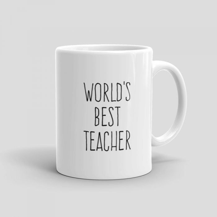 Mutative Mugs - World's Best Teacher Mug - Right View
