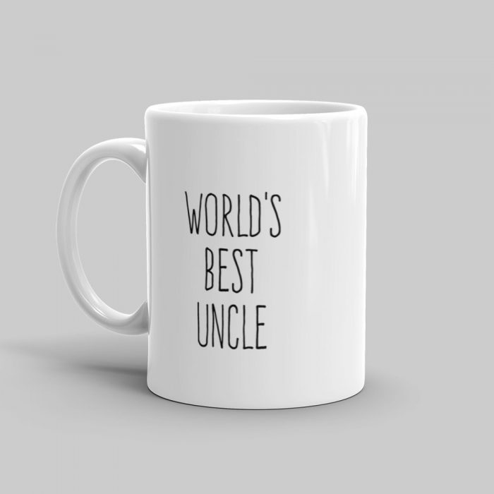 Mutative Mugs - World's Best Uncle Mug - Left View