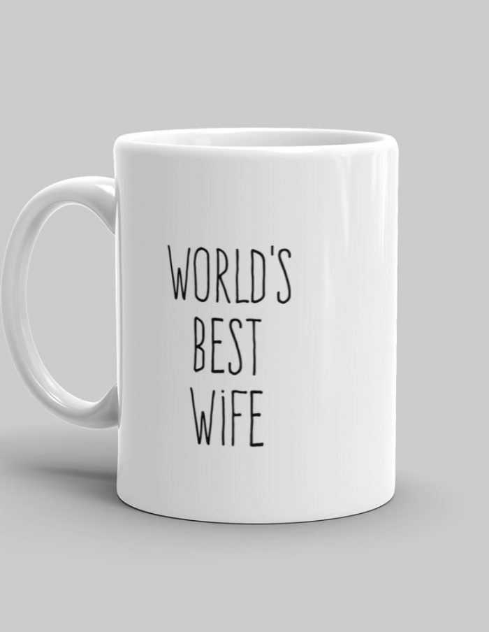 Mutative Mugs - World's Best Wife Mug - Left View